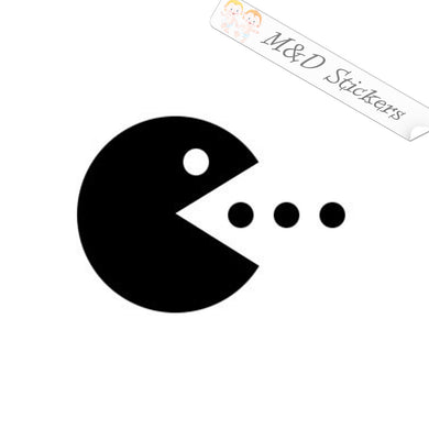 2x Pacman Video Game Vinyl Decal Sticker Different colors & size for Cars/Bikes/Windows
