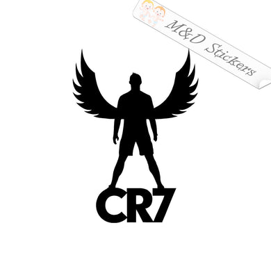2x Cristiano Ronaldo Vinyl Decal Sticker Different colors & size for Cars/Bikes/Windows
