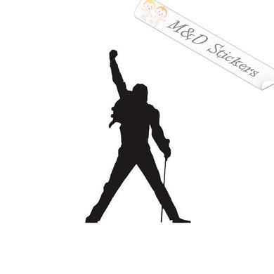 2x Freddie Mercury Vinyl Decal Sticker Different colors & size for Cars/Bikes/Windows
