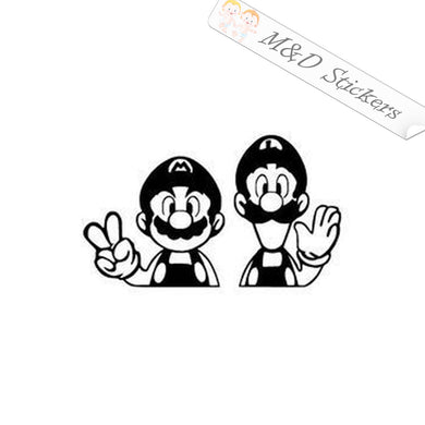 2x Super Mario brothers Video Game Vinyl Decal Sticker Different colors & size for Cars/Bikes/Windows