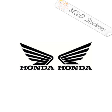 A pair of Honda wings Vinyl Decal Sticker Different colors & size for Cars/Bikes/Windows