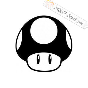 2x Super Mario Mushroom Video Game Vinyl Decal Sticker Different colors & size for Cars/Bikes/Windows