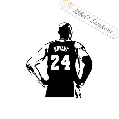 2x Kobe Bryant Black Mamba Basketball Vinyl Decal Sticker Different colors & size for Cars/Bikes/Windows
