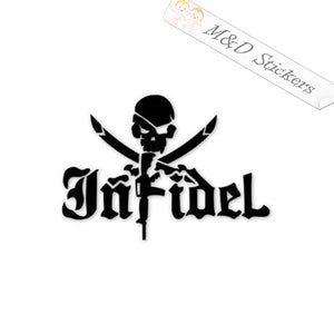 2x Infidel Vinyl Decal Sticker Different colors & size for Cars/Bikes/Windows