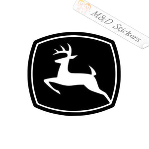 2x John Deere Logo Vinyl Decal Sticker Different colors & size for Cars/Bikes/Windows