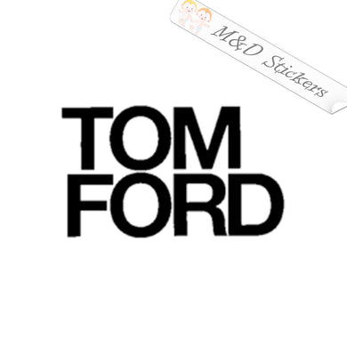 2x Tom Ford Logo Vinyl Decal Sticker Different colors & size for Cars/Bikes/Windows