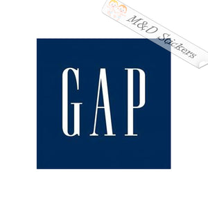 2x Gap Logo Vinyl Decal Sticker Different colors & size for Cars/Bikes/Windows