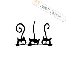 2x Three cats Vinyl Decal Sticker Different colors & size for Cars/Bikes/Windows