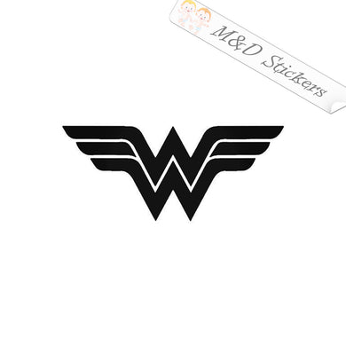 2x Wonder woman Vinyl Decal Sticker Different colors & size for Cars/Bikes/Windows