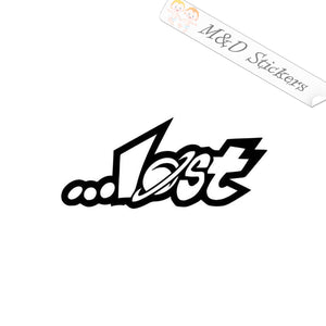 2x Lost Logo Vinyl Decal Sticker Different colors & size for Cars/Bikes/Windows