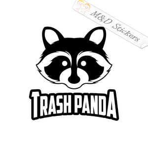 2x Trash Panda Raccoon Vinyl Decal Sticker Different colors & size for Cars/Bikes/Windows