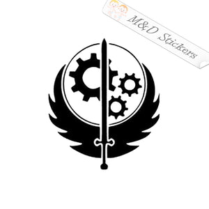 2x Fallout Brotherhood of Steel Vinyl Decal Sticker Different colors & size for Cars/Bikes/Windows