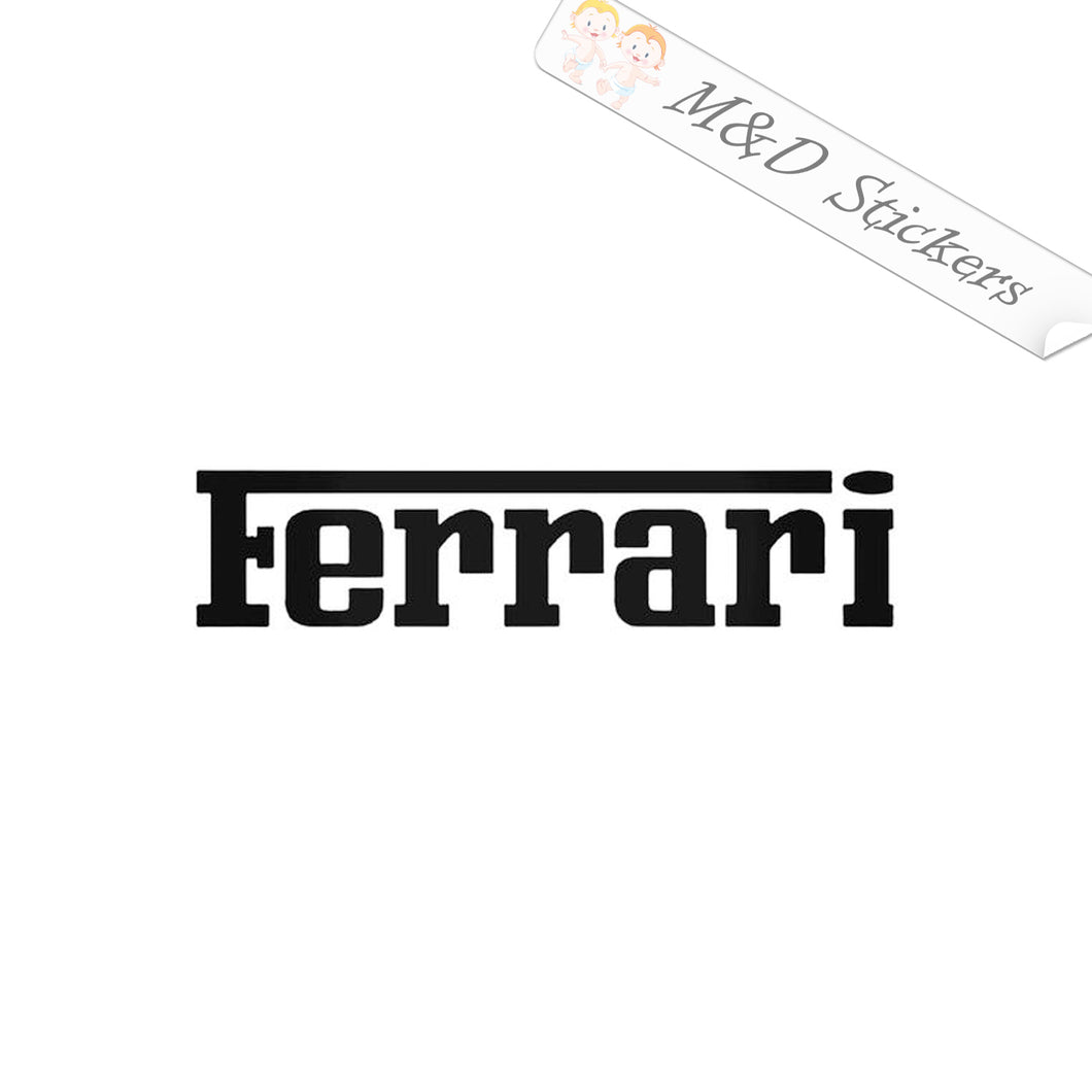 2x Ferrari Logo Vinyl Decal Sticker Different colors & size for Cars/Bikes/Windows