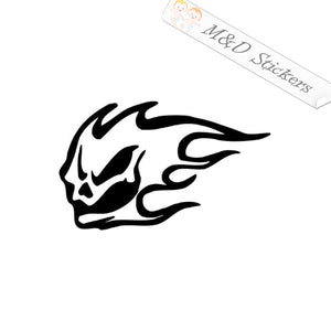 2x Flaming Demon Vinyl Decal Sticker Different colors & size for Cars/Bikes/Windows