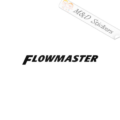 2x Flowmaster exhaust logo Vinyl Decal Sticker Different colors & size for Cars/Bikes/Windows