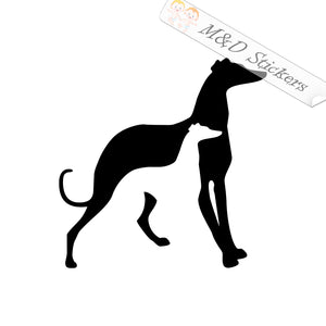 2x Greyhound Vinyl Decal Sticker Different colors & size for Cars/Bikes/Windows