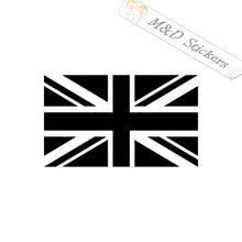 2x British Flag Great Britain UK United Kingdom Vinyl Decal Sticker Different colors & size for Cars/Bikes/Windows