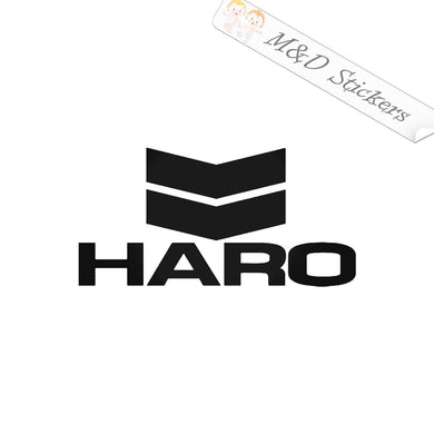 2x Haro Bicycles Logo Vinyl Decal Sticker Different colors & size for Cars/Bikes/Windows