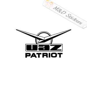 2x UAZ Patriot Russian car logo Vinyl Decal Sticker Different colors & size for Cars/Bikes/Windows