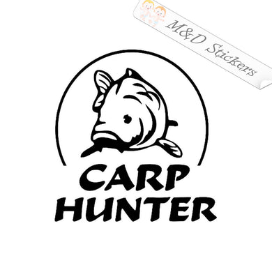 2x Carp Hunter Decal Sticker Different colors & size for Cars/Bikes/Windows