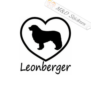 2x Love Leonberger Dog Vinyl Decal Sticker Different colors & size for Cars/Bikes/Windows
