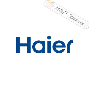 2x Haier Logo Vinyl Decal Sticker Different colors & size for Cars/Bikes/Windows