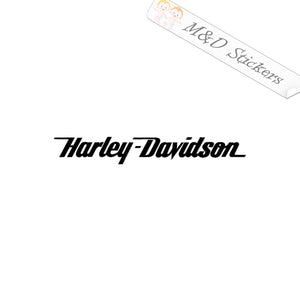 2x Harley-Davidson script Vinyl Decal Sticker Different colors & size for Cars/Bikes/Windows