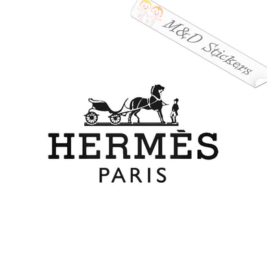 2x Hermes Logo Vinyl Decal Sticker Different colors & size for Cars/Bikes/Windows