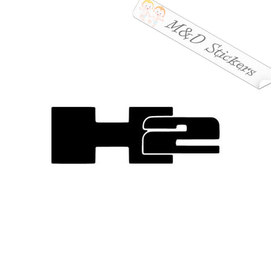 2x Hummer H2 Logo Vinyl Decal Sticker Different colors & size for Cars/Bikes/Windows