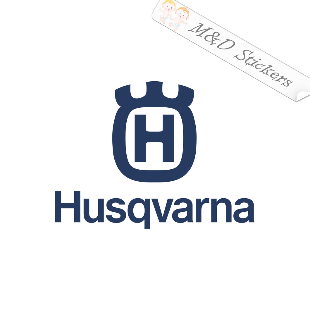 2x Husqvarna Logo Vinyl Decal Sticker Different colors & size for Cars/Bikes/Windows