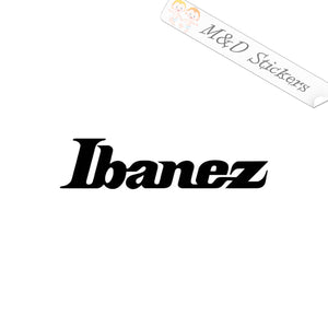 2x Ibanez guitars logo Vinyl Decal Sticker Different colors & size for Cars/Bikes/Windows
