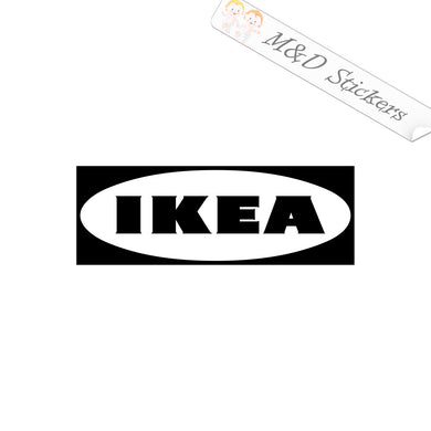 2x IKEA Logo Vinyl Decal Sticker Different colors & size for Cars/Bikes/Windows