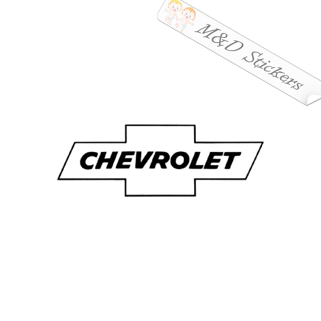 2x Chevrolet Logo Vinyl Decal Sticker Different colors & size for Cars/Bikes/Windows