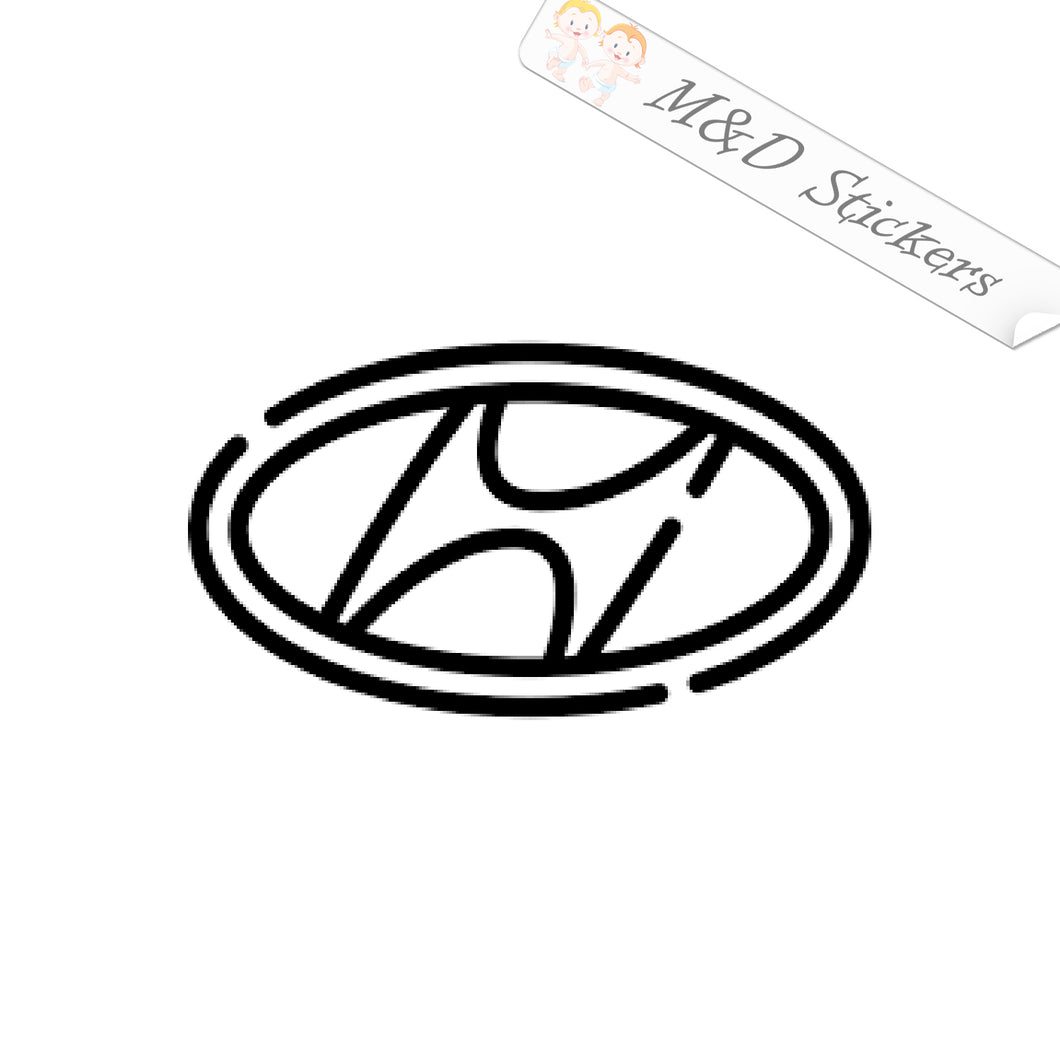 2x Hyundai Logo Vinyl Decal Sticker Different colors & size for Cars/Bikes/Windows