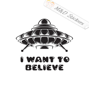2x UFO I want to believe Vinyl Decal Sticker Different colors & size for Cars/Bikes/Windows