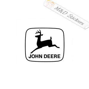 2x John Deere Old Logo Vinyl Decal Sticker Different colors & size for Cars/Bikes/Windows