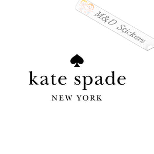 2x Kate Spade Logo Vinyl Decal Sticker Different colors & size for Cars/Bikes/Windows