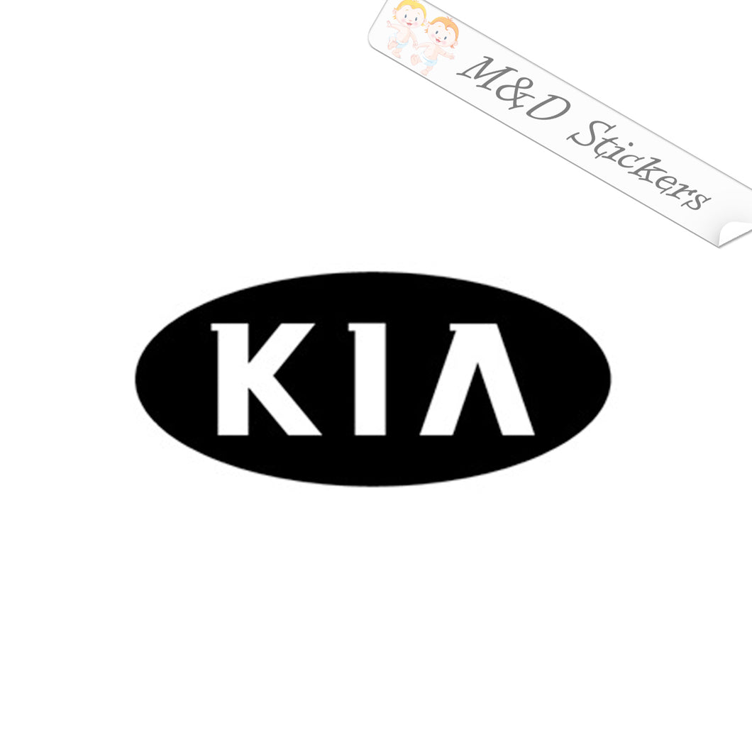 2x KIA Logo Vinyl Decal Sticker Different colors & size for Cars/Bikes/Windows
