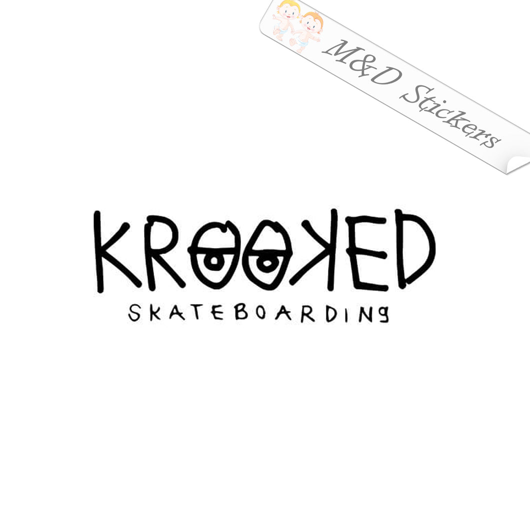 2x Krooked skateboards Logo Vinyl Decal Sticker Different colors & size for Cars/Bikes/Windows