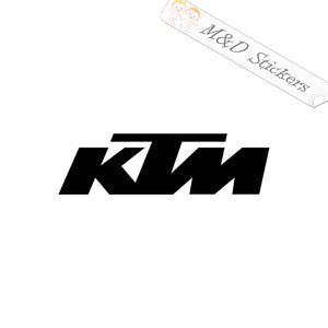 2x KTM Logo Vinyl Decal Sticker Different colors & size for Cars/Bikes/Windows