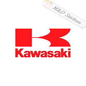 2x Kawasaki Logo Vinyl Decal Sticker Different colors & size for Cars/Bikes/Windows