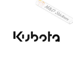 2x Kubota Logo Vinyl Decal Sticker Different colors & size for Cars/Bikes/Windows