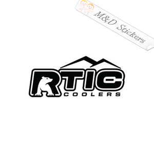 2x RTIC Coolers Logo Vinyl Decal Sticker Different colors & size for Cars/Bikes/Windows