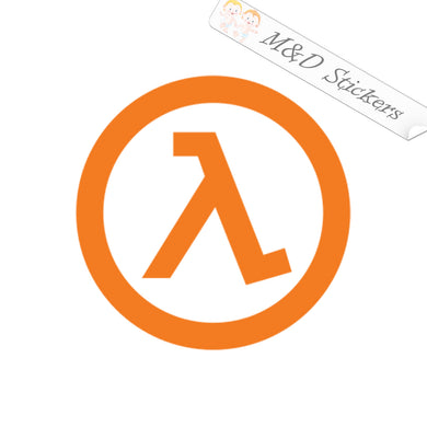 2x Half life lambda logo Vinyl Decal Sticker Different colors & size for Cars/Bikes/Windows