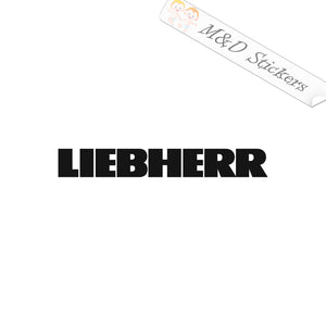 2x Liebherr Construction Logo Vinyl Decal Sticker Different colors & size for Cars/Bikes/Windows