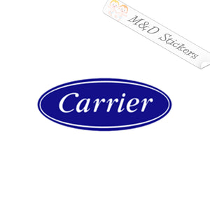 2x Carrier Logo Vinyl Decal Sticker Different colors & size for Cars/Bikes/Windows