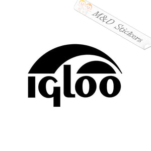 2x Igloo Logo Vinyl Decal Sticker Different colors & size for Cars/Bikes/Windows