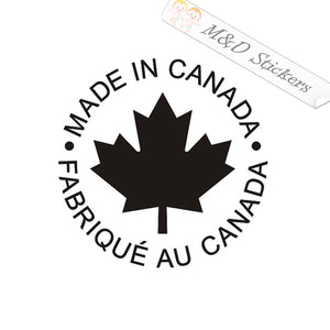 2x Made in Canada / fabriqué au Canada Vinyl Decal Sticker Different colors & size for Cars/Bikes/Windows