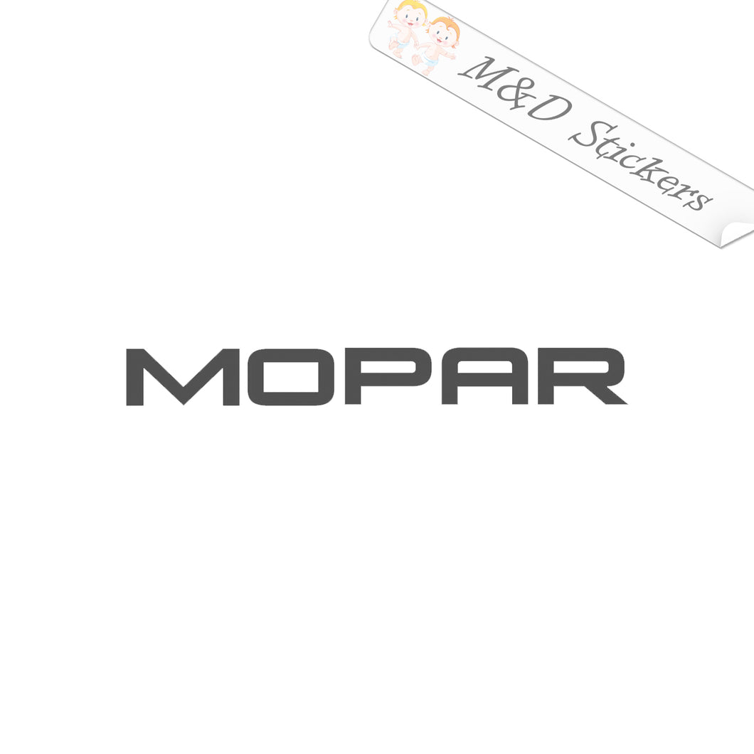 2x Mopar Logo Vinyl Decal Sticker Different colors & size for Cars/Bikes/Windows