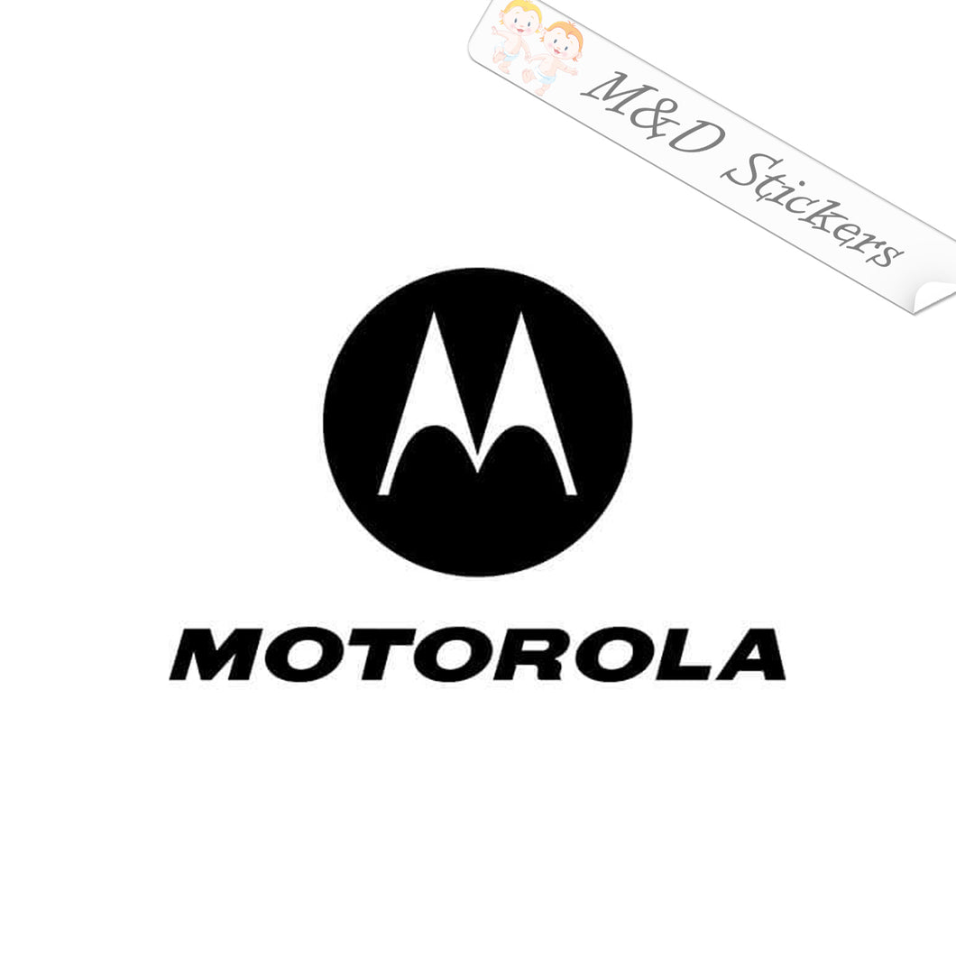 2x Motorola Logo Vinyl Decal Sticker Different colors & size for Cars/Bikes/Windows